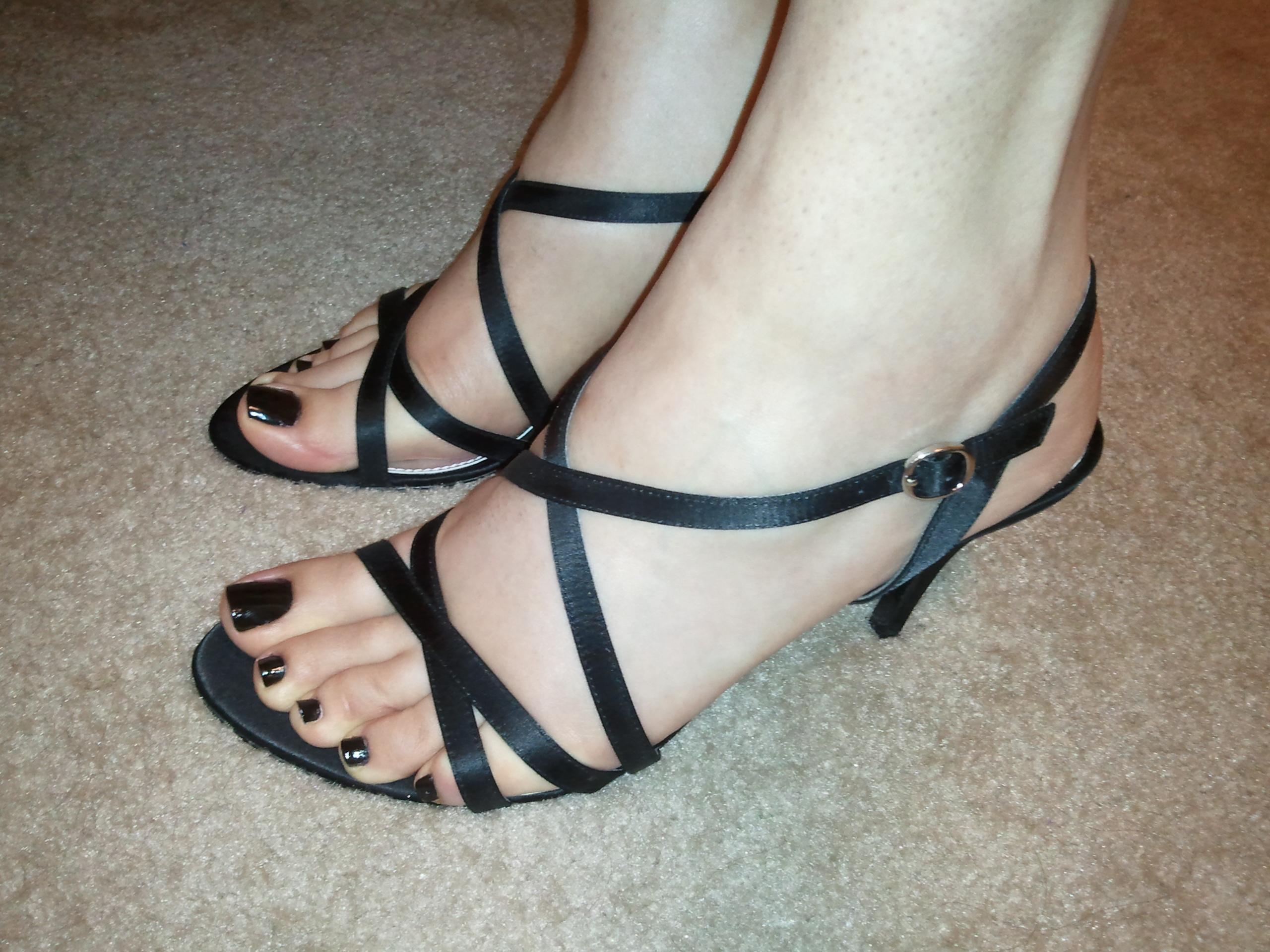 Black Polish Pedicure · my New Black Polish